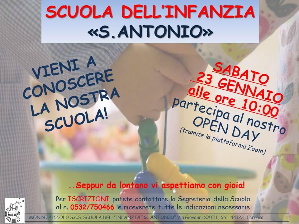 [MP-SAFE] OPEN DAY a.s.2021-2022 - Scuola dell'Infanzia SANT'ANTONIO
